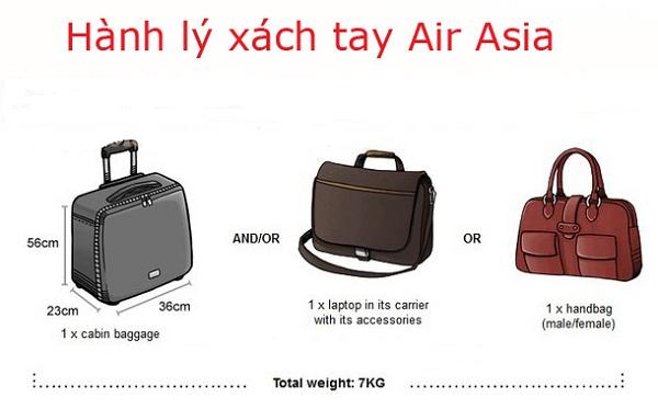 hành lý xách tay air asia
