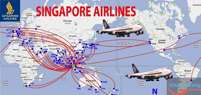 đường bay singapore airlines