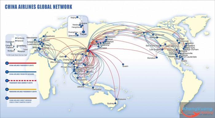 đường bay china airlines