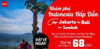 Air Asia KM vé rẻ đến Indonesia chỉ từ 68 usd