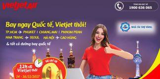 Vietjet Air mở bán vé 0 đồng bay quốc tế năm 2018