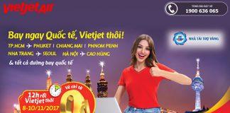 Vietjet Air mở bán 500.000 vé 0 đồng bay quốc tế.