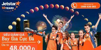 Jetstar KM vé rẻ đi châu Á