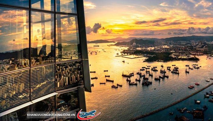 Cảnh đẹp hoàng hôn ở Hongkong