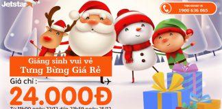 Mừng Giáng sinh cùng Jestar vé 1 chiều chỉ từ 24k