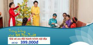 Vietnam Airlines KM vé khứ hồi hành trình nội địa chỉ từ 399.000 đ