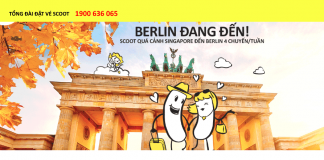 Scoot khuyến mãi vé máy bay đi Berlin