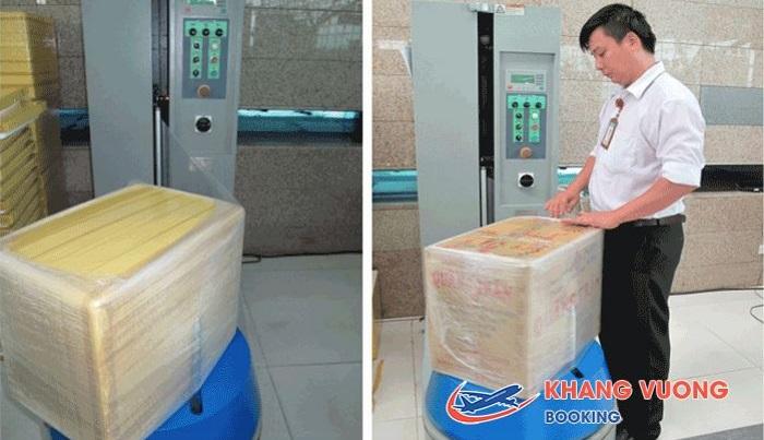 Vietnam Airlines sẽ tiến hành đóng gói hành lý ngay sau khi nhận vật phẩm cồng kềnh