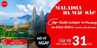 Air Asia khuyến mại vé máy bay giá chỉ 31 USD