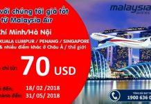 Săn vé rẻ chỉ từ 70 USD của Malaysia Airlines