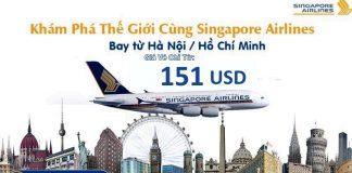 Chương trình KM năm 2018 của Hãng Singapore Airlines
