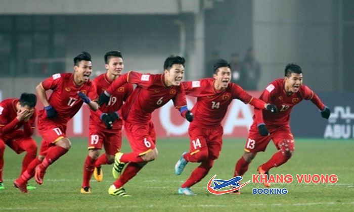 Bay miễn phí cùng với Vietnam Airlines sang Trung Quốc cổ vũ U23 Việt Nam