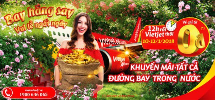 Vietjet Air khuyến mãi đường bay nội địa Việt Nam