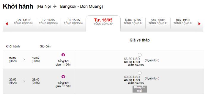 Hành trình từ Hà Nội đi Bangkok
