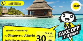 Hãng hàng không Scoot khuyến mại giá vé chỉ từ 30 USD