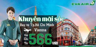 Vé đi Vienna chỉ từ 566 USD từ TP.HCM