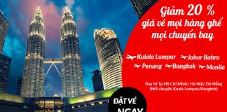 Air Asia giảm 20% mọi hạng ghế, mọi chuyến bay