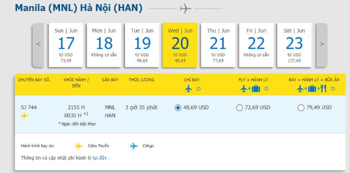 Hành trình từ Manila đi Hà Nội