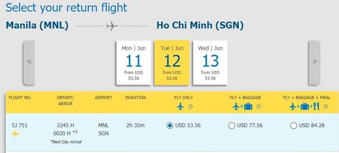Chiều về từ Manila - Tp. Hồ Chí Minh