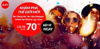 Air Asia khuyến mãi giá vé bay chỉ từ 70 USD