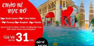 Air Asia khuyến mãi giá vé từ 31 USD bay khắp Châu Á