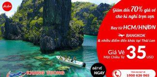 Air Asia khuyến mãi gía vé 1 chiều đi Thái Lan chỉ từ 35 USD