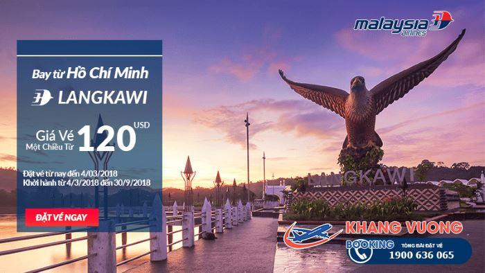 Hành trình bay từ TP. Chí Minh đi Langkawi chỉ từ 120 USD