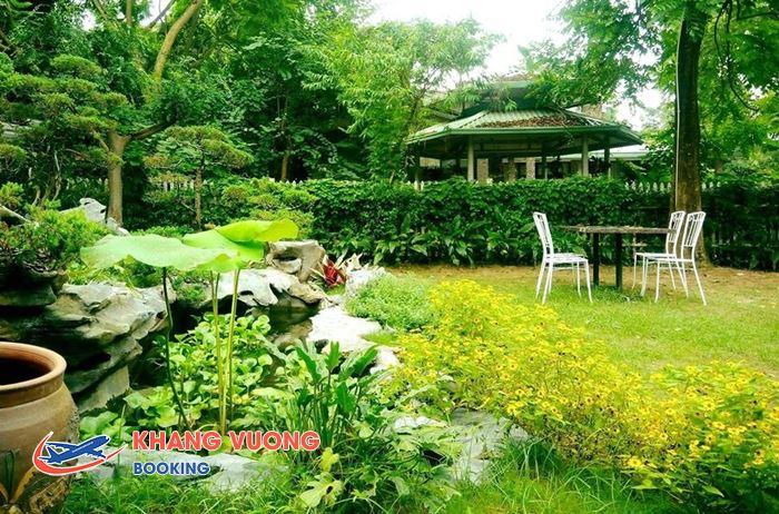 Không gian thiên nhiên ở Om Vegan Garden