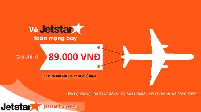 Cuối tuần siêu khuyến mại Jetstar