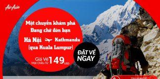 KM Air Asia vé đi Nepal chỉ từ 149 USD siêu rẻ