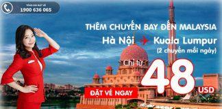 KM Air Asia đến Kuala Lumpur từ Hà Nội