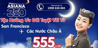Asiana Airlines ưu đãi giá vé khứ hồi cực yêu chỉ từ 555 usd