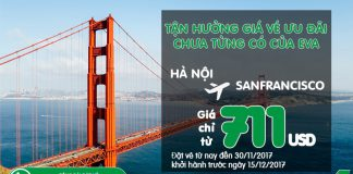 KM đi Mỹ của Eva Air vé khứ hồ chỉ từ 711 USD tiết kiệm