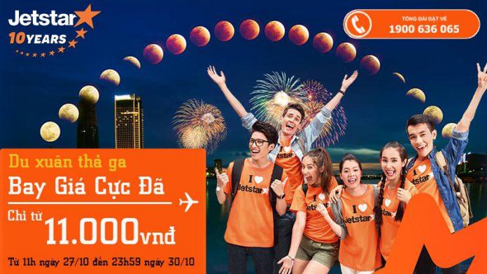 Jetstar Pacific KM vé du xuân Tết chỉ từ 11k siêu rẻ