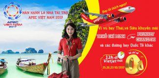 Vietjet KM vé máy bay 0 đồng đi Thái Lan và quốc tế năm 2018