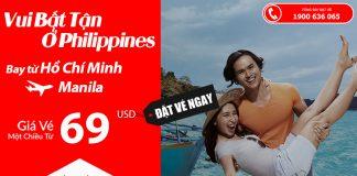 Air Asia KM vé đi Manila giá rẻ từ 69 USD