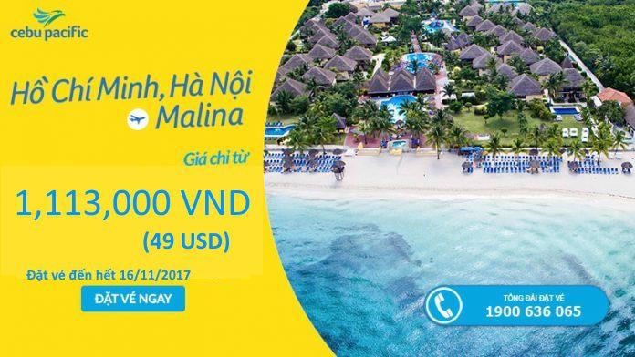 Cebu Paccific KM vé đi Manila chỉ từ 49 USD