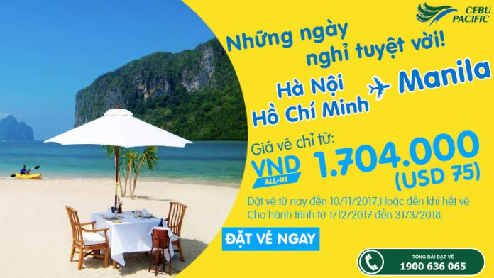 KM Cebu đi Manila từ 70 USD