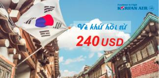 Đặt vé đi Seoul khứ hồi chỉ từ 240 USD