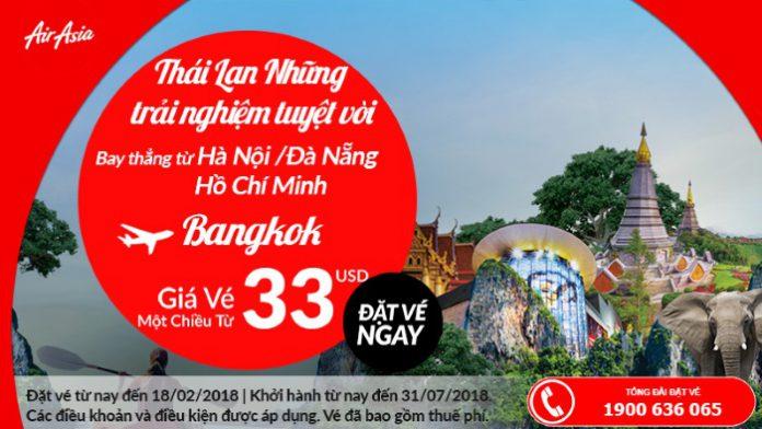 Vé máy bay đi Thái Lan giá rẻ chỉ từ 33 USD