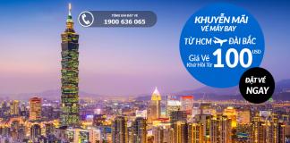 Đặt vé máy bay từ Hồ Chí Minh đi Đài Bắc giá rẻ