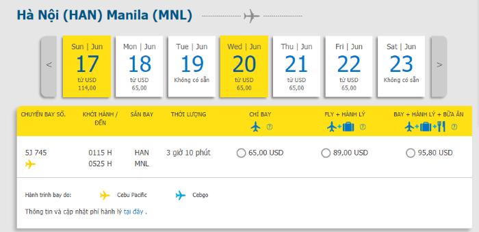 Hành trình từ Hà Nội đi Manila