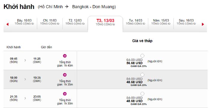 Hành trình Hồ Chí Minh đi Bangkok
