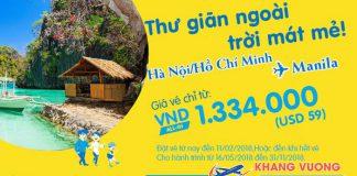 Cebu Pacific khuyến mại vé máy bay giá rẻ chỉ từ 59 USD đi Manila