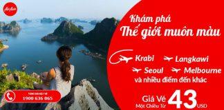 Air Asia khuyến mãi vé bay chỉ từ 43 USD