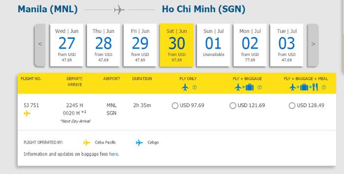 Hành trình từ Manila đi Hồ Chí Minh