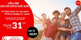 Air Asia khuyến mãi giá vé 31 USD