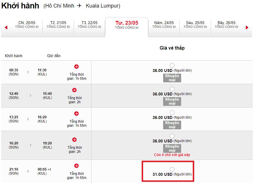vé máy bay Air Asia giá rẻ chỉ từ 31 USD