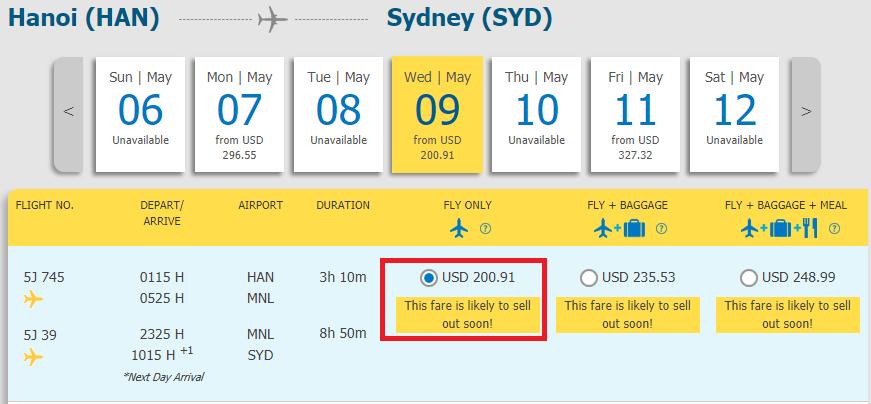 Vé máy bay Hà Nội đi Sydney