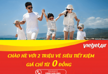 2 triệu vé Vietjet Air 0 đồng